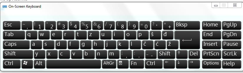 Ekranske tastature