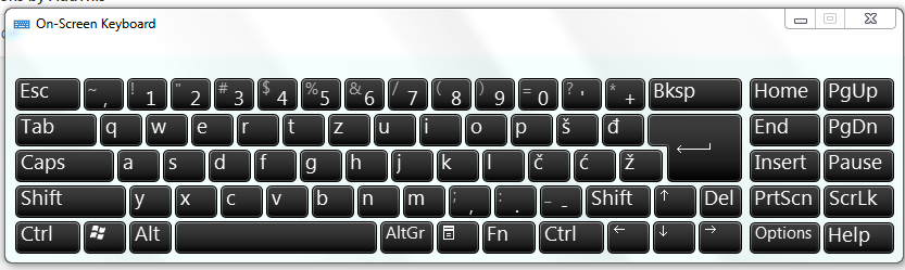Windows On Screen Keyboard